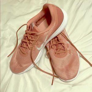 Nike Flex Rose Gold Tennis Shoe